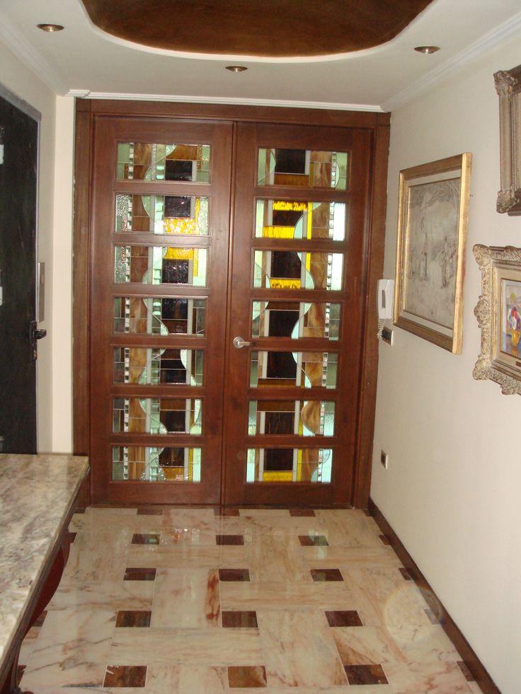 30 best puertas de vidrio madera corredizas images on - Puertas corredizas de madera ...