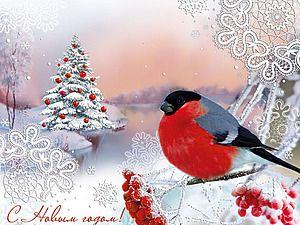 Снегири на старых новогодних открытках: неисчерпаемый источник вдохновения - Ярмарка Мастеров - ручная работа, handmade