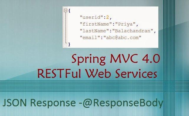 Spring MVC 4.0 RESTFul Web Service JSON Response with @ResponseBody | ProgrammingFree