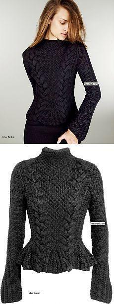 Модный пуловер спицами от Iris von Arnim | Ms Lana Vi