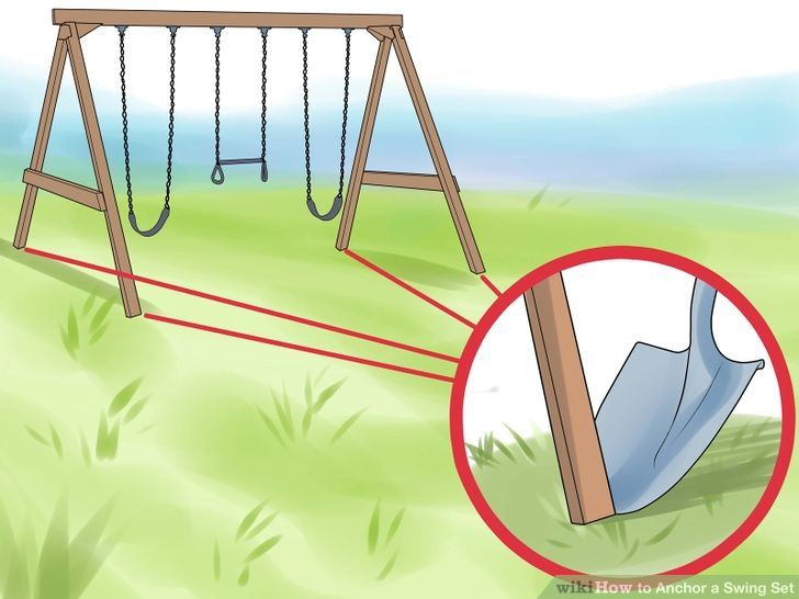Image titled Anchor a Swing Set Step 1
