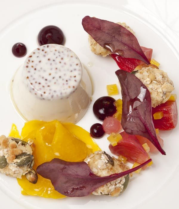Nigel Mendham presents a variant on the classic Italian panna cotta, sharing his mustard panna cotta recipe - which can be served as a starter.