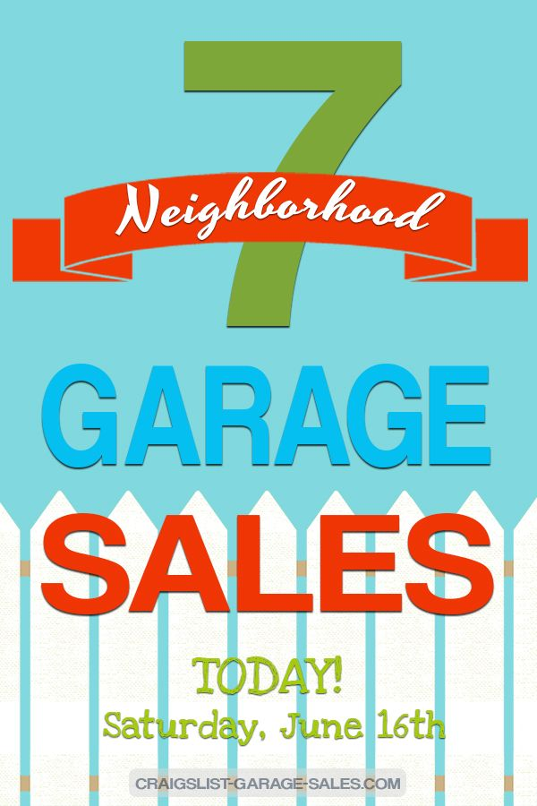 Craigslist Okc Garage Sales >> Neighborhood Garage Sales Neighborhood Garage Sale The
