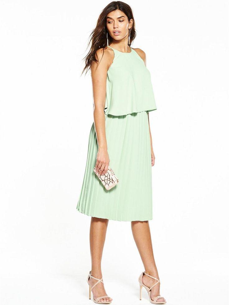 V by Very Pleated Midi Dress - Mint, http://www.very.co.uk/v-by-very-pleated-midi-dress-mint/1600131745.prd