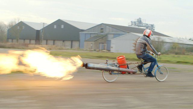 Colin Furze is a plumber by day - but in his spare time he retreats to his garage and invents all manner of weird and wonderful contraptions, like the Jet Bike and World's Fastest Mobility Scooter. He also holds the Guinness World Record for the World's Fastest Pram, Longest Motorbike and biggest Bonfire!  Made for the BBC Directed by David Beazley Cameraman Max Brill Sound Design Axle Cheeng