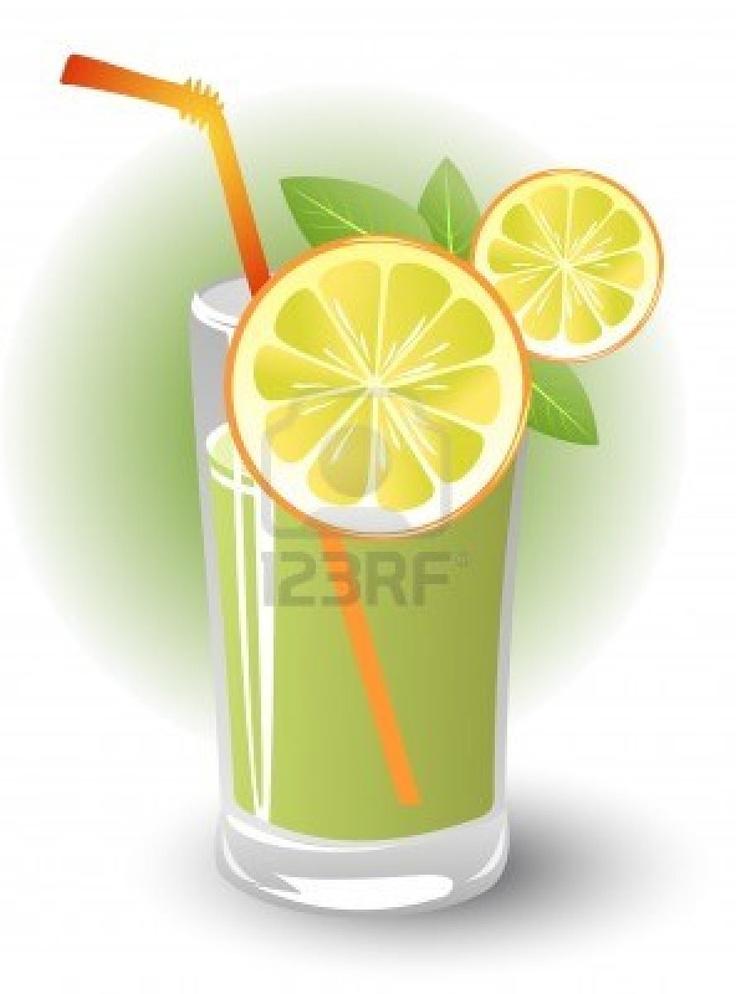 Stock Vector Mint Lemonade Lemon Drink Mint