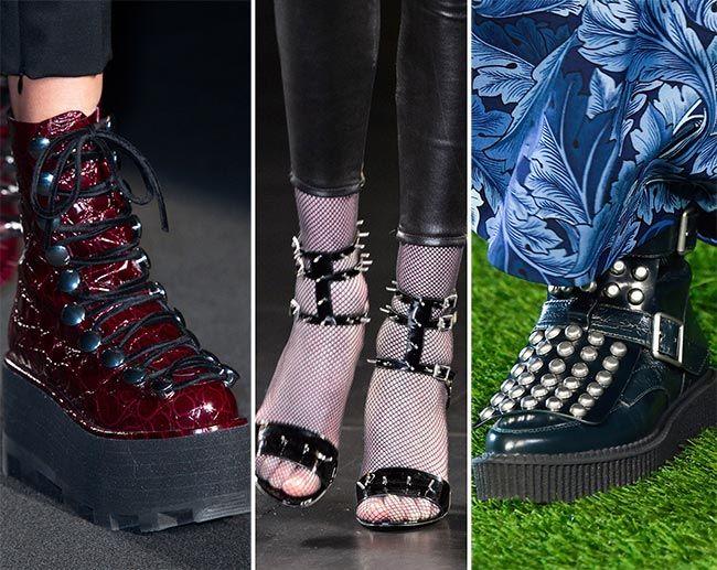 Обувь в стиле панк - тенденции обуви осень/зима 2015-2016