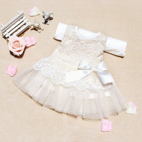 Baby Princess Lace Dress - Loved by Chloe Great for Christening, wedding flower girl dress etc