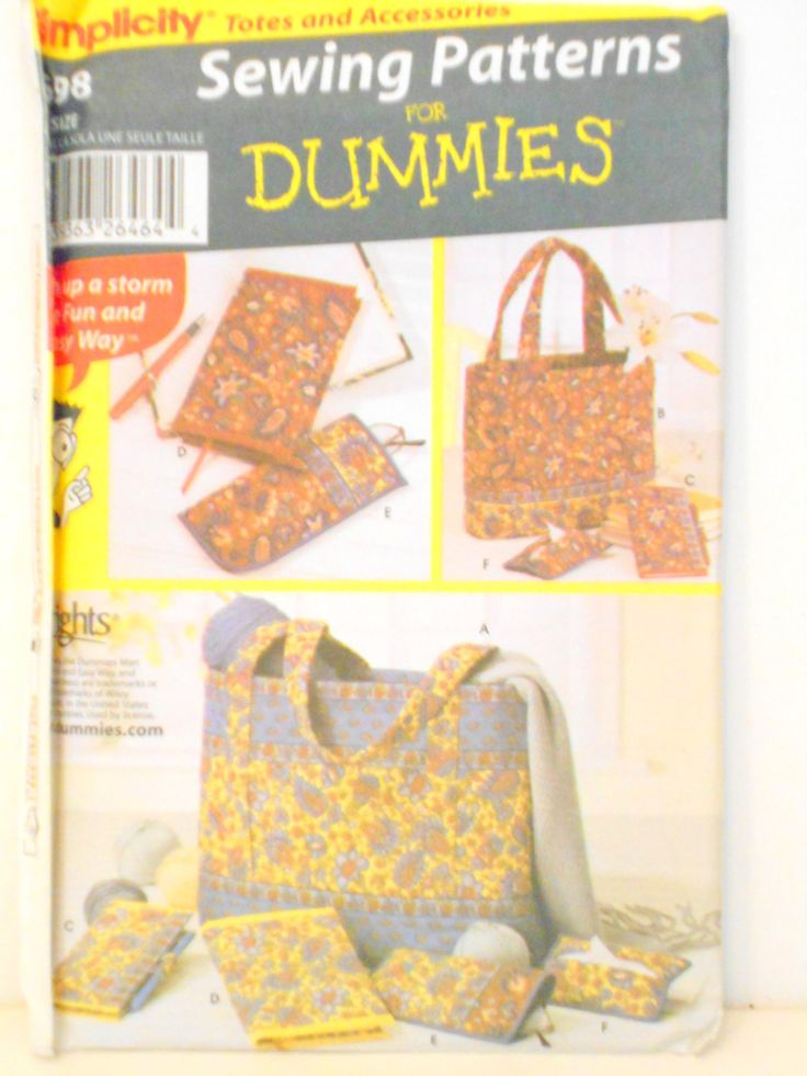 Knitting Patterns For Dummies : Images about fabric sewing on pinterest vintage