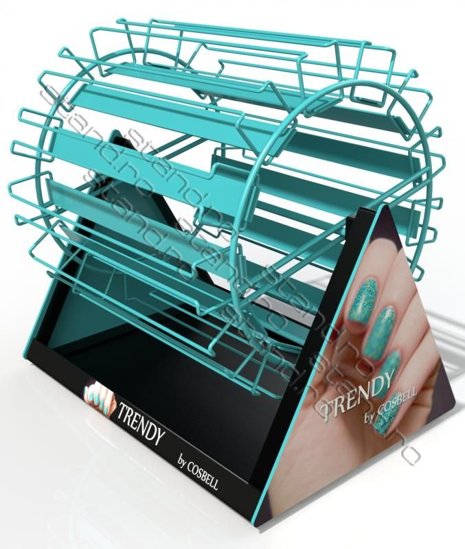 model-1085 stand display expozitor rotativ pentru oje