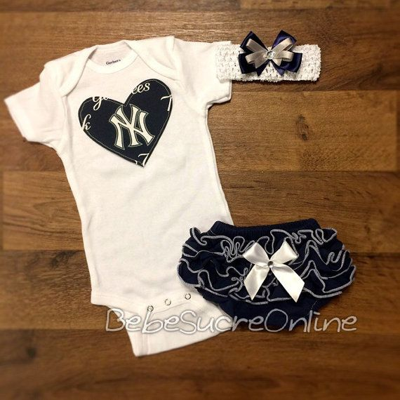 Hey, I found this really awesome Etsy listing at https://www.etsy.com/listing/229716850/ny-yankees-outfit-and-headband