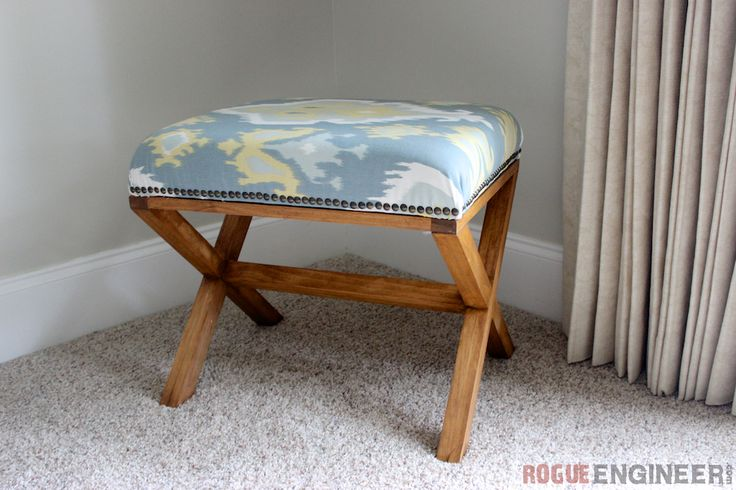 DIY Upholstered X Bench | Rogue Engineer