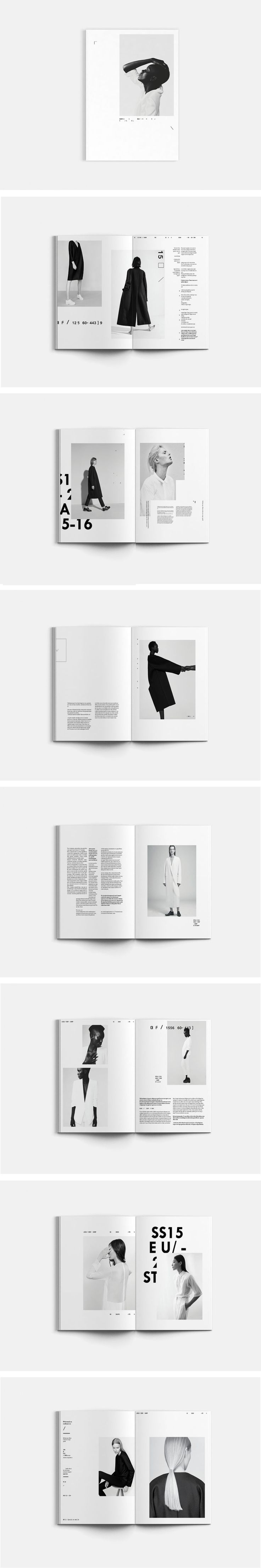 A lookbook for fictional brand QUOOR