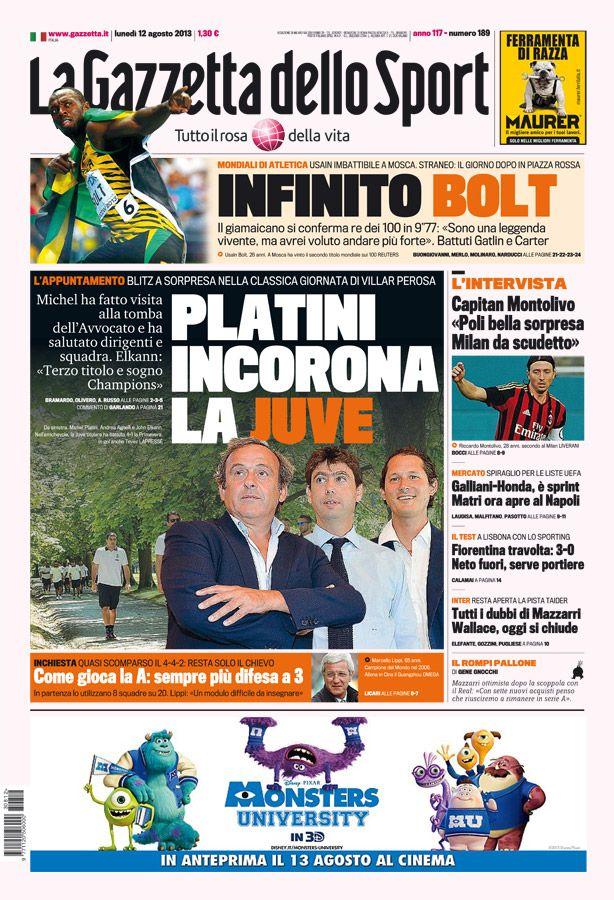 la prima pagina del 15 09 2013