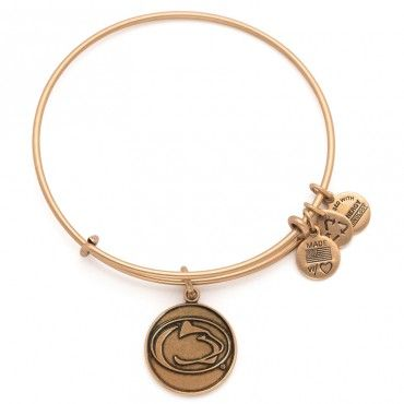 *****COLOR- Rafaellan Silver Finish Alex and Ani Penn State Charm Bangle