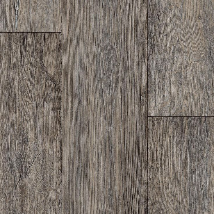 Barnwood Oak Grey 13.2 ft. Wide x Your Choice Length Residential Vinyl Sheet Flooring, Grey Distressed Oak
