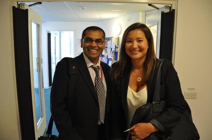 One of the CVA senior members with a BBC representative