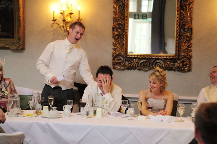 The best man's speech, and an embarassed groom!
