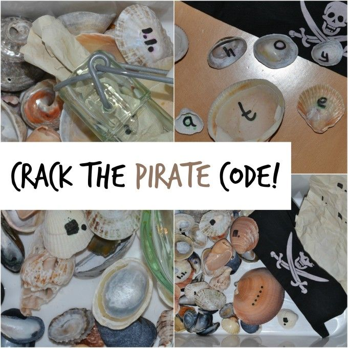 Crack the pirate code #EYFS Science  This will be perfect for our pirate theme at church for our bible verse activity.