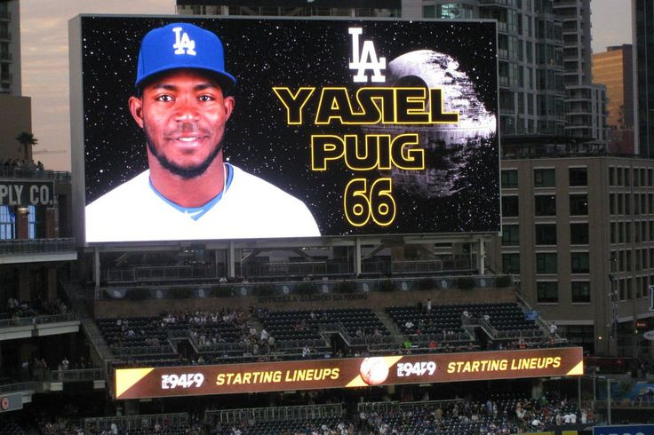 The Padres introduced the Dodgers with the Imperial March for Star Wars Night