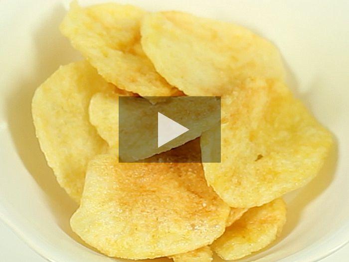 Crea tus propias patatas chip caseras, con menos grasas y conservantes artificiales