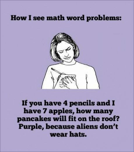 I hate to admit how bad at math I am. It reminds me that I'm one of those stereotypical girls that suck at math and am in college for the liberal arts partly because I suck so hard at math.