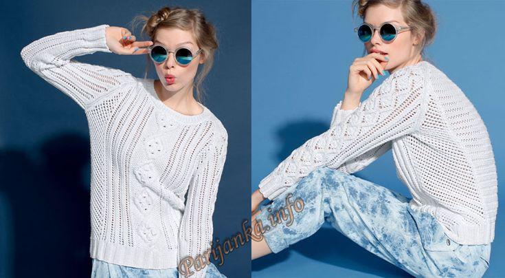Пуловер (ж) 11*103 Phildar №3976