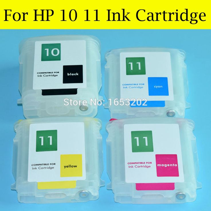 4 Pieces/Lot Empty Refill ink Cartridge For HP 10 11 With Auto Reset Chip For HP Designjet 100 110 70 10ps 20ps 50ps Printer