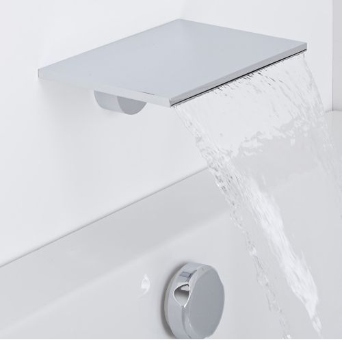 The Milano waterfall bath spout is sure to make a designer statement in any bathroom