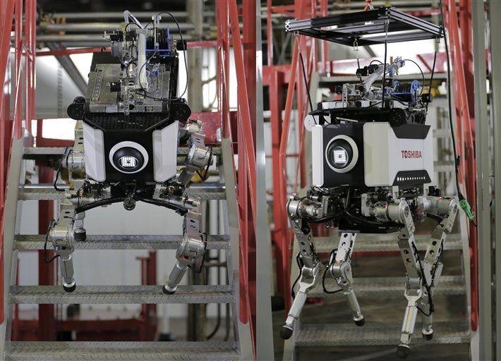 Toshiba presenta un robot que opera en zonas radiactivas