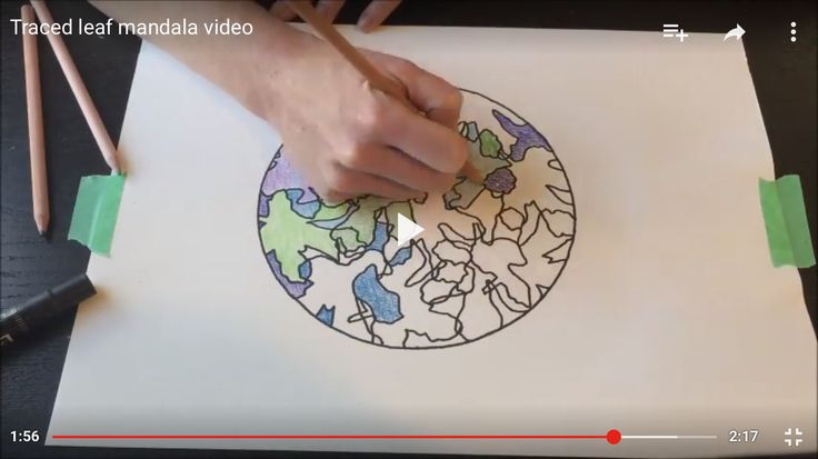 How to make a traced leaf mandala video. #creativityintherapy (art therapy interventions and ideas)