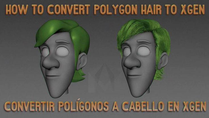 -En este tutorial, les muestro como convertir un cabello poligonal a guías para hacer cabello en Xgen. -Modelo usado Malcolm 2.0 cortesía de AnimSchool.com, ...