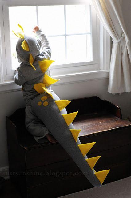 DIY Dinosaur Costume for little boy or toddler