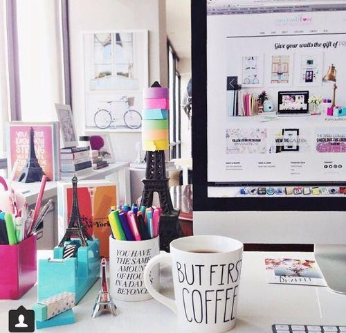 Las 25 mejores ideas sobre oficina de color rosa en - Decoracion de escritorios ...