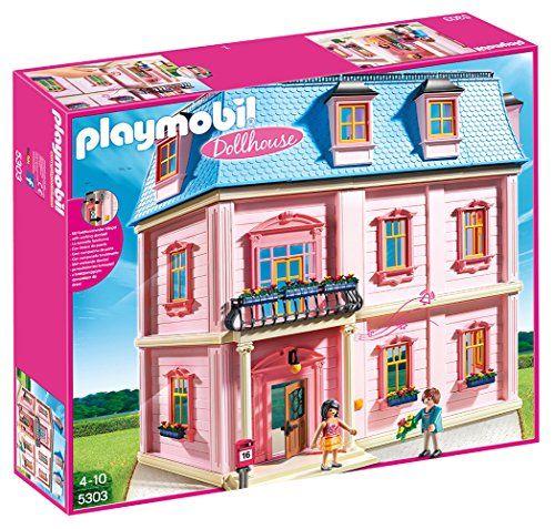 Playmobil – 5303 – Maison traditionnelle: Devinez qui vient à la maison ! La maison traditionnelle est vraiment très spacieuse (avec 6…