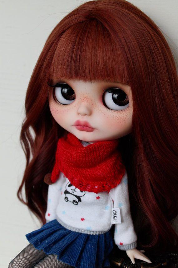 RESERVED Adeline  Custom Blythe Doll OOAK Art Doll by NDsDollys