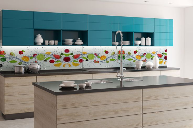 Owocowo w kuchni, naklejka  pod szybę  z klejem po stronie   -> Fototapeta Do Kuchnia