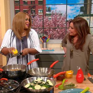 Sunny Anderson's 2-Ingredient Recipes   Rachael Ray Show. Chicken, potatoes, zucchini,PB cookies