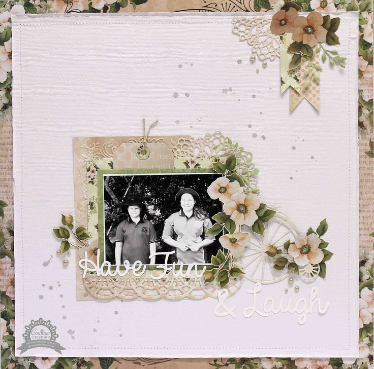 Couture Creations: Have Fun & Laugh by Anita Bownds  | #couturecreationsaus #scrapbooking #decorativedies #embossingfolders #vintagerosegarden