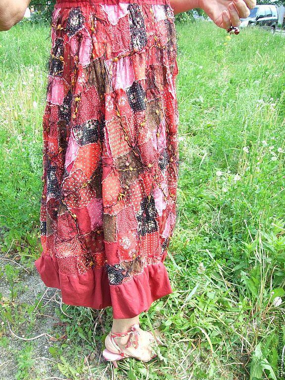 Купить Красный сарафан - ярко-красный, сарафан, лето, хлопок 100%