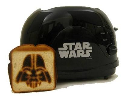 The Darth Vader Toaster...@Nicole Dagenhardt I found Clay's perfect Christmas present...
