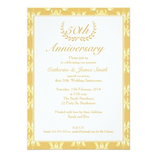 50 best parties celebrations images on pinterest invitation 50th wedding anniversary invitation stopboris Choice Image