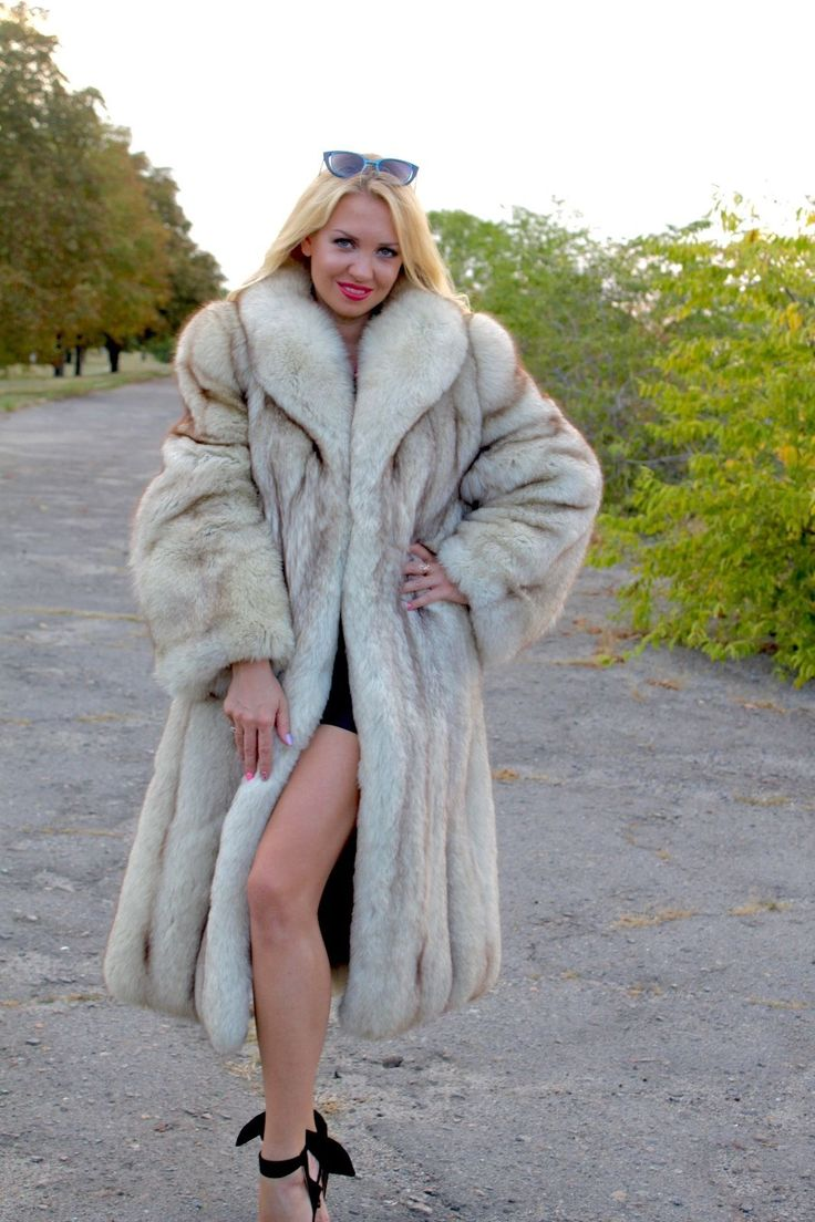 Real Fur Coat Fit UK 10-12-14-16 new condition polar fox ...