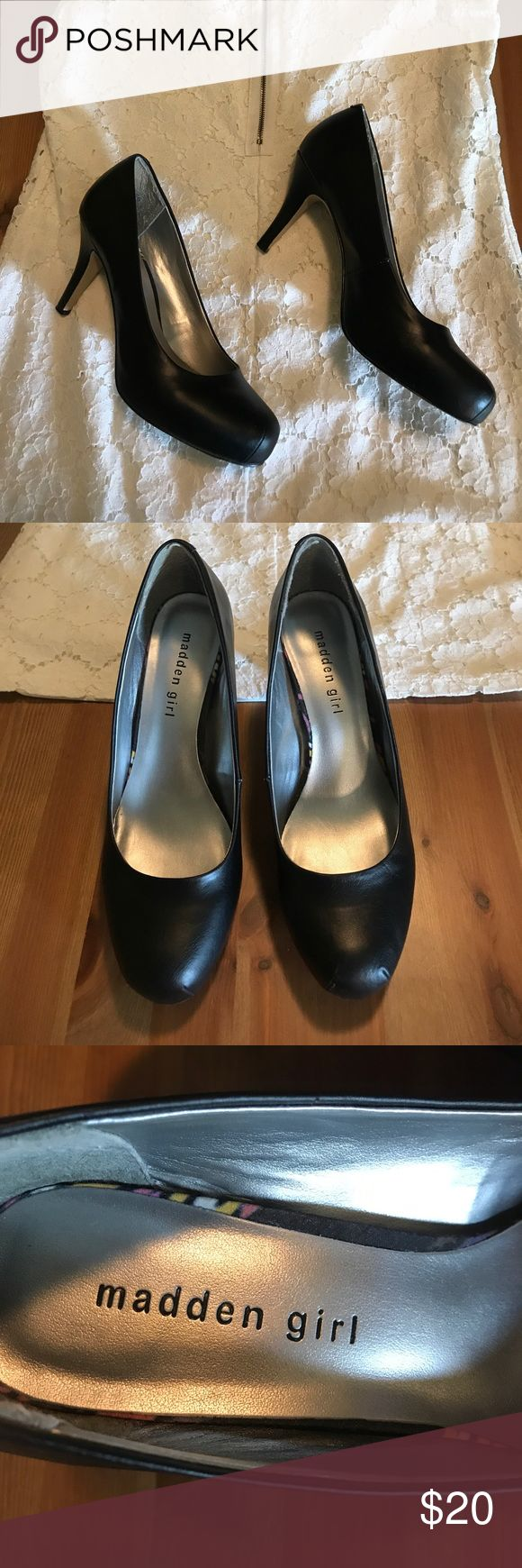 Madden Girl black heels Madden Girl by Steve Madden black heels. Pre-loved but in excellent condition! Questions just ask! Steve Madden Shoes Heels