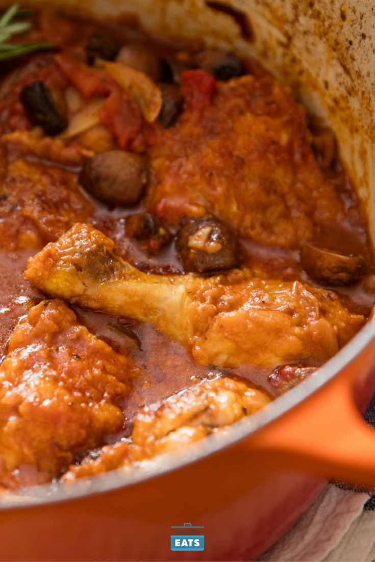 This rustic version is made with cremini mushrooms, onion, garlic, tomatoes, and fresh herbs.