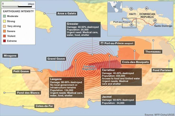 Haiti Earthquake Damage Map
