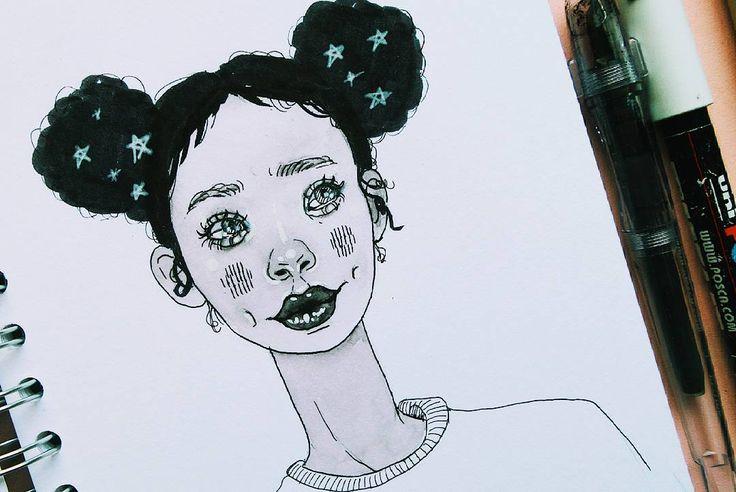 Inktober 20 .  .  .  .  .  #inktober #inktober2017 #ink #inchiostro #draw #draw #inkdrawing #portrait #girl #outlines  #oc #illustrazione #illustrationoftheday #イラスト #おえかき #fountainpen #brushpen #fudepen #ecoline  #likesback #like4like #art #artistic #pilot #likeback