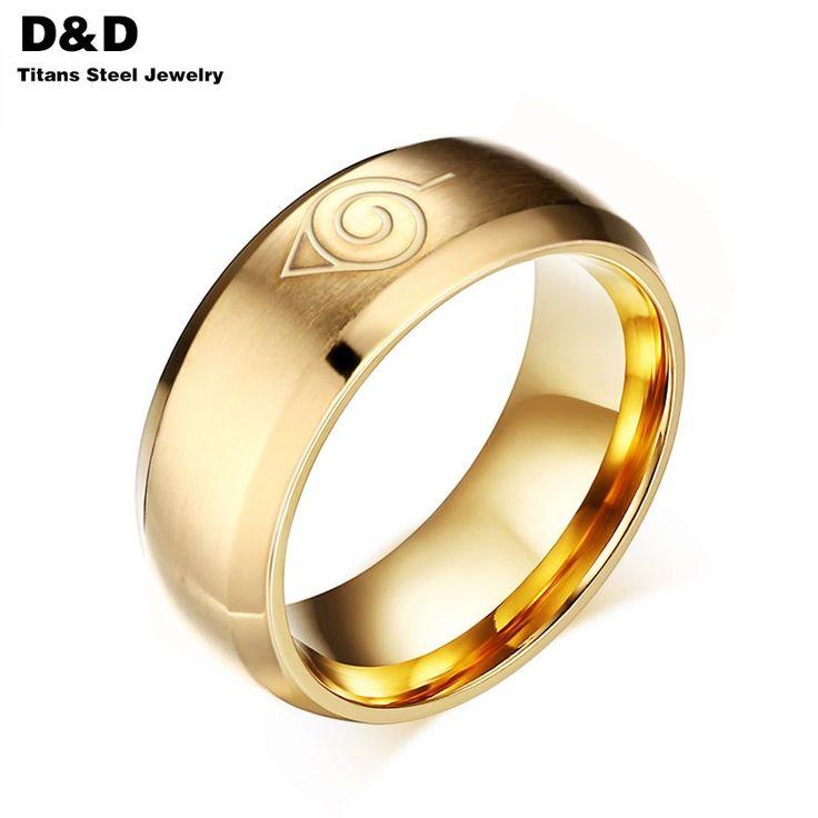 Купить Мода 8 мм наруто кольцо для мужчин мальчик очарование ювелирные изделия…