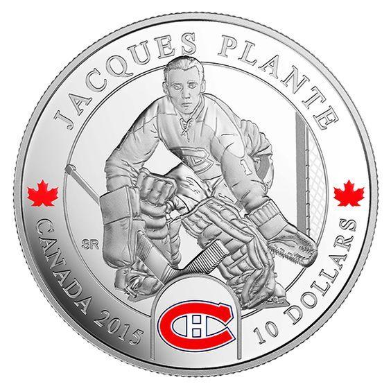 Canada 10 Dollars Silver Coin 2015 National Hockey League Goalies: Jacques Plante