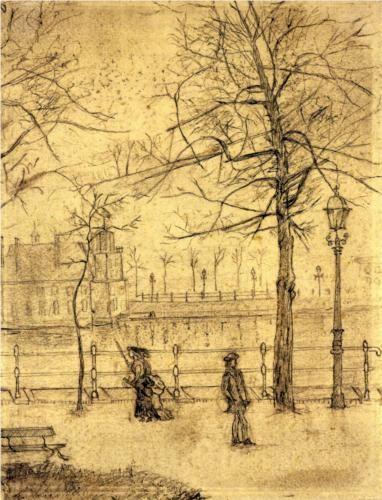 Vincent van Gogh (Dutch: 1853 – 1890) | Lange Vijverberg, Hague (1883)